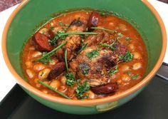 Cassoulet avagy sólet francia módra – készítette Pintér Brigitta – Receptletöltés Thai Red Curry, Pork, Ethnic Recipes, Kale Stir Fry, Pork Chops