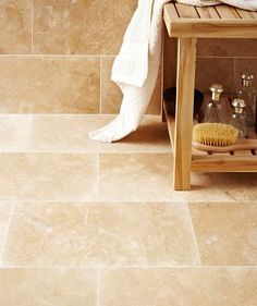 Travertine 20x40cm - Size 40.6cm x 20.3 cm  was £19.90 /m2 now £15.89 /m2 (Dec 2014)