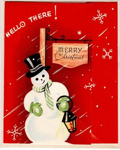 #Christmas #greetingcard #snowman