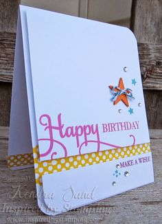 Luv 2 Scrap n' Make Cards: Published Star Birthday Card - Inspired By Stamping