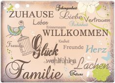 Inspiration - Willkommen Zuhause Wand-Tattoos Aufkleber Poster-Sticker (100 x 70cm)