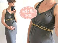 I would do SO many things differently, but it's worth seeing how simply you can make a DIY maternity dress with jersey.