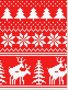Fair Isle Scarf antlered creatures with happy ending detail LOL