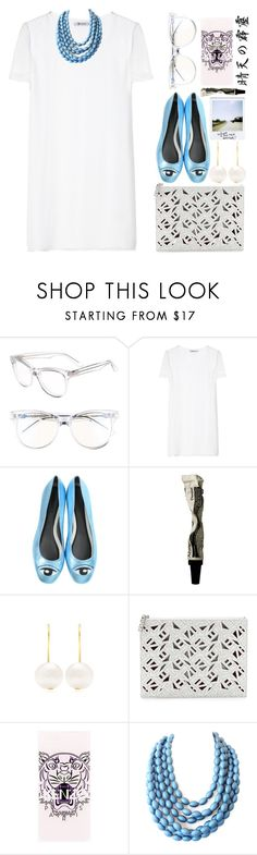 """""""Thunderclap from a clear sky"""" by sazyc ❤ liked on Polyvore featuring Wildfox, T By Alexander Wang, Kenzo, Aesop, Aurélie Bidermann, white, kenzo and Blue"""
