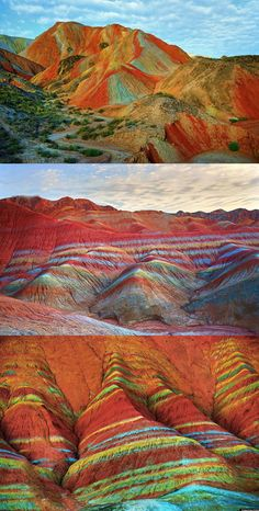 These mountains are part of the Zhangye Danxia Geopark and are really real!