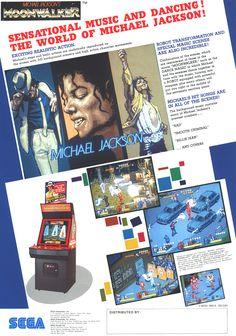 Michael Jackson's Moonwalker U.S arcade flyer
