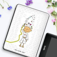 Lass es Herzen und Blumen regnen mit dem kleinen Yogi, das am besten jeden Tag mit der zauberhaften Hülle für Tablet & E-Reader E Reader, Phone Cases, Flowers, Phone Case