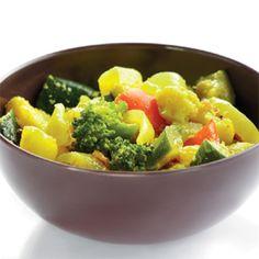 Curry de légumes à l'autocuiseur- Recette de cuisine - Seb