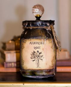 Harry Potter inspired Mandrake Root Potion Jar by LKGPhotography