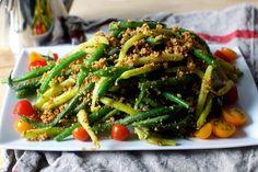 green beans with almond pesto | smittenkitchen.com