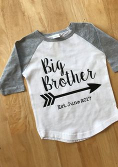 Big Brother shirt pregnancy announcement by CraftsFromScraps
