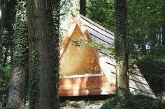 A-Frame Sleeper in Blaguško, Slovenia.  Contributed by Celia Viudes. #cabinporn