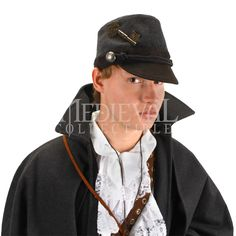 3d9936a850639 Gray Cadet Hat - LU-290712 by Medieval Collectibles Steampunk Hat