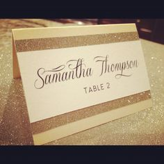 Place Cards  Escort Cards  Glam Wedding by PlatypodeAlamode