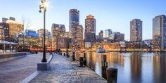 Boston Massachusetts, Historic New England, Boston Harbor, In Boston, San Francisco Skyline, Places To See, The Good Place, New York Skyline, Stock Photos