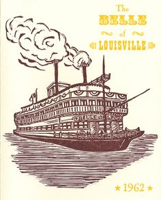 Cool steamboat print by Louisville company Hound Dog Press.