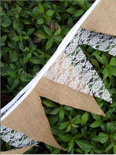 Items similar to 9 Feet Rustic Jute Hessian Burlap Floral Lace Bunting Banner Shabby Chic Vintage Wedding Decoration on Etsy Lace Bunting, Burlap Lace, Bunting Banner, Buntings, Wedding Themes, Wedding Decorations, Wedding Ideas, Hessian Table Runner, Rustic Chic Decor