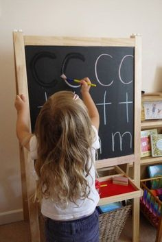 Tracing Letters with Water Just tried this with my 3.5 year old and she loved…