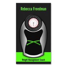 Weight Loss Coach Business Cards - Black and Green. This is a fully customizable business card and available on several paper types for your needs. You can upload your own image or use the image as is. Just click this template to get started!