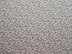 Black & White Calico Fabric - Cranston Quilt Works - Quilters Cotton - 1 Yard only