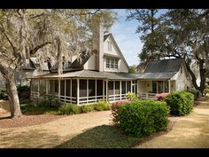 Love the wrap-around screen porch & the summer kitchen addition ~ Lowcountry home ~ Wilson Village ~ Palmetto Bluff