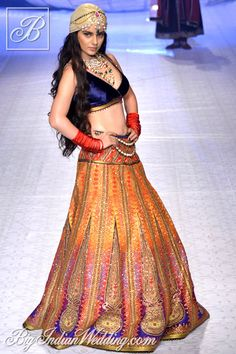 Kangana Ranaut for JJ Valaya at India Bridal Fashion Week 2013
