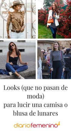 Ideas para combinar tu camisa o blusa de lunares #moda #style #camisas #looks #outfits #DiarioFemenino Foto Instagram, Sewing, Casual, Inspiration, Outfits, Clothes, Ideas, Polka Dot Shirt, Polka Dot Print