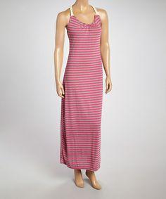 Look at this #zulilyfind! Gray & Pink Rope Racerback Maxi Dress - Women #zulilyfinds