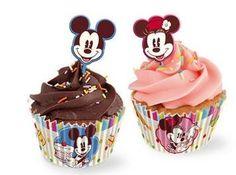 Disney Cake Design, Contenitori Pirottini per CupCakes e Mini Dolci, Tutto per le Feste di Compleanno, Topolino in Cucina - TocTocShop.com - Fantastico per i Bambini, Imbattibile nei Prezzi