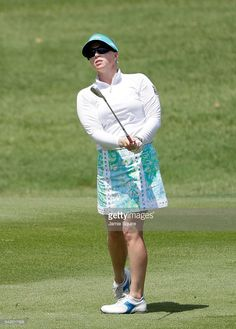 Morgan Pressel of the United States hits her second shot on the 9th hole during the second round of the Walmart NW Arkansas Championship Presented by P&G on June 25, 2016 at Pinnacle Country Club in Rogers, Arkansas.