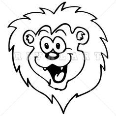 Mascot Clipart Image of A Lions Cub Head