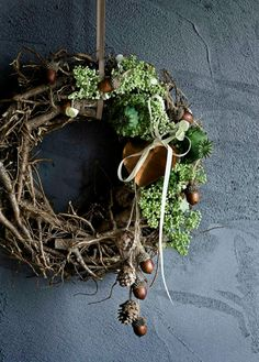 Wreath for Fall or Christmas - http://www.brostecopenhagen.com/