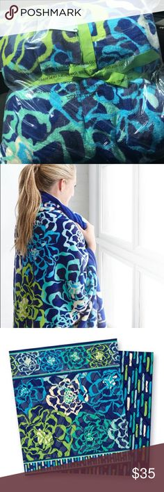 "Vera Bradley Blanket This is a limited edition Vera Bradley Katalina Blues blanket. Unopened. 80"" by 50"" Vera Bradley Other"
