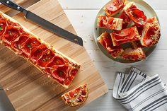 French Bread Pizzas With Mozzarella and Pepperoni