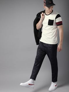 Men's T-shirts - Buy T-shirts for men online in India. Choose from a wide range of polo, round, V neck & more Men's T-shirts in various designs at Myntra. India Fashion Men, Winter Shirts, Casual Wear For Men, Stylish Shirts, Tee Shirt Designs, Jeans And Sneakers, Men Online, Polo T Shirts, Mens Clothing Styles