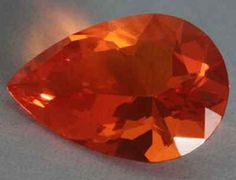 Fire Opals 69184: Fire Opal, Mexico, Pear Brilliant Cut -> BUY IT NOW ONLY: $145 on eBay!