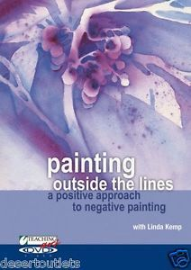 NEW! Teaching Art - Painting Outside the Lines by Linda Kemp  on DVD-ROM