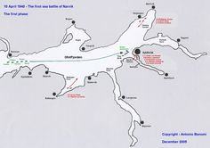 First Battle of Narvik 10 April 1940