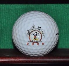 Year 2000 Millenium Walt Disney World and Epcot Center two sided logo golf ball