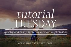 The quickest and easiest way to apply Sky Overlays!   Find more free tutorial at www.morganburks.com