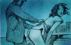 Manara Blue 10 (Limited Edition Print) (Signed) art by Milo Manara Archive at The Illustration Art Gallery