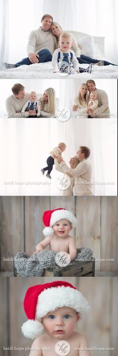 6 month old baby  T and family! #christmas #baby #santa #family