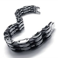 Fashion Men Silicone Stainless Steel Bracelets