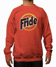 Fride orange Crewneck Sweatshirt