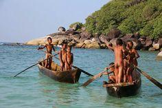 Young sea gypsies of Mergui (Myeik) archipelagos,Southern Myanmar.