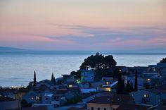 Baska Voda, Dalmatia (view on black) Travel Europe, Croatia, San Francisco Skyline, New York Skyline, Travelling, Around The Worlds, Country, Places, Rural Area