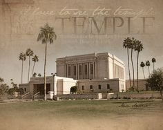 Mesa, Arizona LDS Temple Print 16x20. $24.95 USD, via Etsy.  Need this for my house...