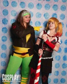 Arkham Harley Quinn by Sarahnade Cosplay and Rogue by Riddler Batman Cosplay #C2E2 (Photo by Cosplay Culture Magazine)