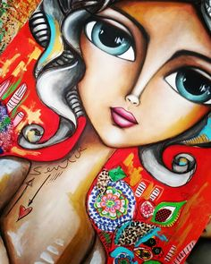 No hay descripción de la foto disponible. Illustrations, Illustration Art, Pop Art Face, Acrilic Paintings, Paintings I Love, Whimsical Art, Painting For Kids, Cute Drawings, Art Girl