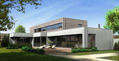 Architectenbureau Frank Gruwez - Moderne villa Maarkedal - Hoog ■ Exclusieve woon- en tuin inspiratie.